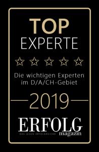 Top-Experte-Siegel-2019 für tätigkeiten als Keynote Speaker